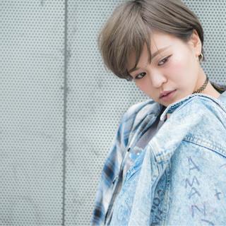 渋谷系 ショート グラデーションカラー ストリート ヘアスタイルや髪型の写真・画像