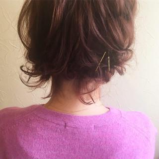 デート ヘアアレンジ スタイリング ボブ ヘアスタイルや髪型の写真・画像