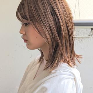 ナチュラル可愛い ミディアム デート 大人カジュアル ヘアスタイルや髪型の写真・画像