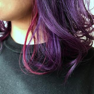 鎖骨ミディアム ストリート ハイトーン 簡単ヘアアレンジ ヘアスタイルや髪型の写真・画像