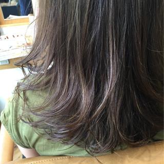 セミロング フェミニン 外国人風 ストリート ヘアスタイルや髪型の写真・画像