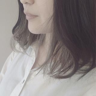 ミディアム 外国人風カラー グレージュ 外国人風 ヘアスタイルや髪型の写真・画像