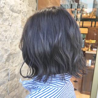 切りっぱなしボブ 外ハネボブ ボブ グレージュ ヘアスタイルや髪型の写真・画像