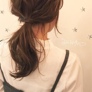 ショート ハイライト セミロング 簡単ヘアアレンジ ヘアスタイルや髪型の写真・画像