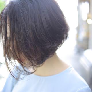 デート ボブ 簡単ヘアアレンジ ナチュラル ヘアスタイルや髪型の写真・画像