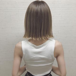 デート 外国人風 切りっぱなし アウトドア ヘアスタイルや髪型の写真・画像