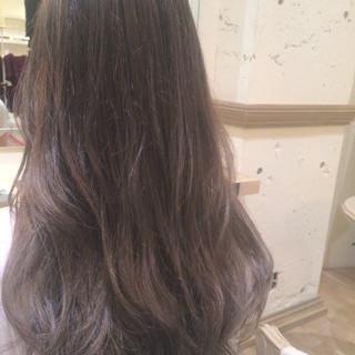グラデーションカラー 暗髪 アッシュ ストリート ヘアスタイルや髪型の写真・画像