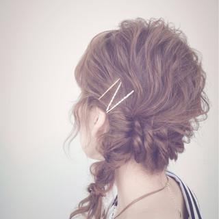 ゆるふわ 大人かわいい 夏 簡単ヘアアレンジ ヘアスタイルや髪型の写真・画像