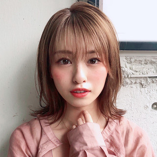 フェミニン ミディアム デート ヘアアレンジ ヘアスタイルや髪型の写真・画像