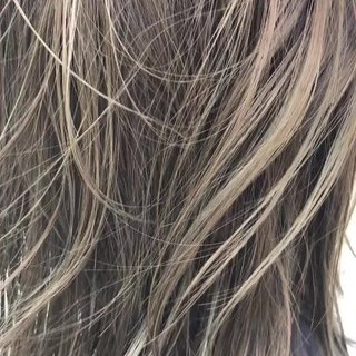 デート ヘアアレンジ ハイライト ストリート ヘアスタイルや髪型の写真・画像