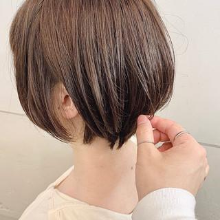ショートボブ ナチュラル ショート ショートヘア ヘアスタイルや髪型の写真・画像
