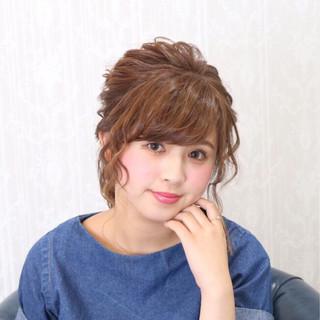 フェミニン ヘアアレンジ ゆるふわ ロング ヘアスタイルや髪型の写真・画像
