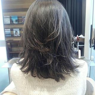 透明感 ナチュラル ミディアム 秋 ヘアスタイルや髪型の写真・画像