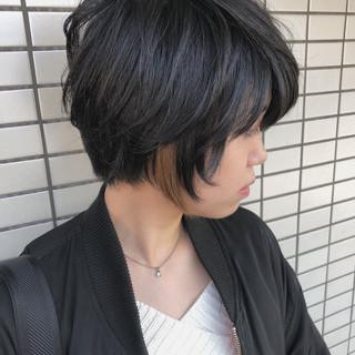 モード インナーカラー 前下がり 大人女子 ヘアスタイルや髪型の写真・画像