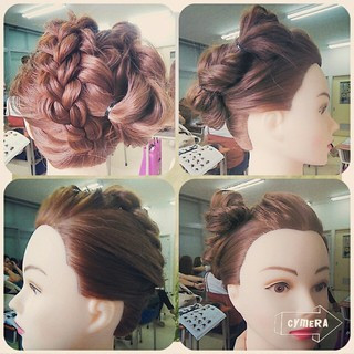 ヘアアレンジ 成人式 ロング 三つ編み ヘアスタイルや髪型の写真・画像