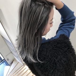 ストリート ミディアム 透明感 ハイライト ヘアスタイルや髪型の写真・画像