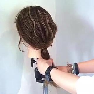 ポニーテール ロング ヘアアレンジ ストリート ヘアスタイルや髪型の写真・画像