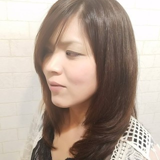 エレガント ピンク ストレート 女子力 ヘアスタイルや髪型の写真・画像