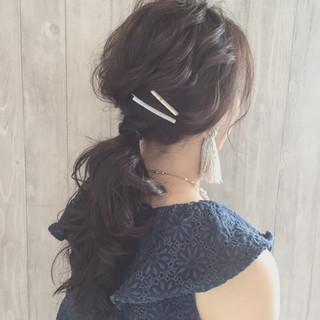 大人女子 女子会 ナチュラル ヘアアレンジ ヘアスタイルや髪型の写真・画像