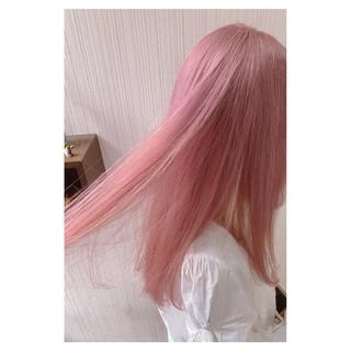 デート 大人かわいい フェミニン ダブルカラー ヘアスタイルや髪型の写真・画像