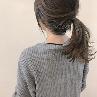 ゆるふわ ロブ 大人かわいい ミディアム ヘアスタイルや髪型の写真・画像