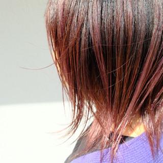グラデーションカラー ナチュラル ミディアム ピンクラベンダー ヘアスタイルや髪型の写真・画像