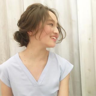 ヘアアレンジ 透明感 ルーズ ピュア ヘアスタイルや髪型の写真・画像