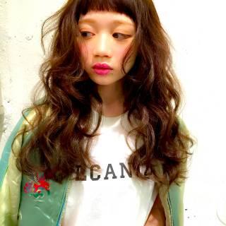 ストリート ゆるふわ ガーリー ウェットヘア ヘアスタイルや髪型の写真・画像