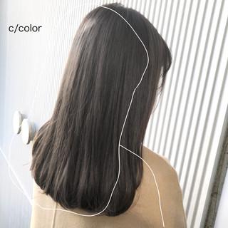 髪質改善 セミロング 前髪 ナチュラル ヘアスタイルや髪型の写真・画像