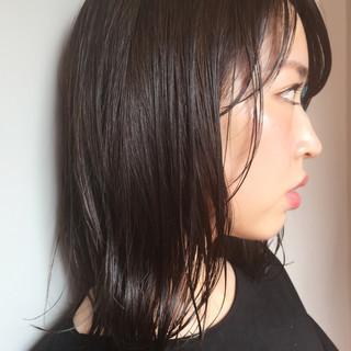 セミロング ボブ オフィス スポーツ ヘアスタイルや髪型の写真・画像