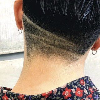 メンズショート ショート ストリート 刈り上げ ヘアスタイルや髪型の写真・画像