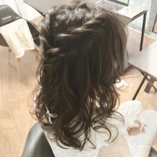 デート フェミニン ヘアアレンジ ショート ヘアスタイルや髪型の写真・画像