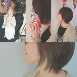ショート 暗髪 アッシュ ストリート ヘアスタイルや髪型の写真・画像