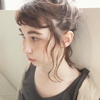 ショート 外国人風 パーマ 簡単ヘアアレンジ ヘアスタイルや髪型の写真・画像