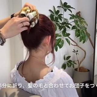 ショート 簡単ヘアアレンジ お団子 ヘアアレンジ ヘアスタイルや髪型の写真・画像
