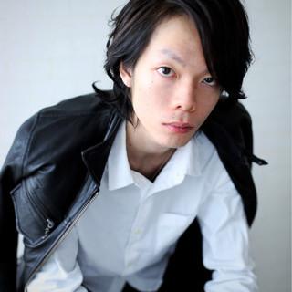 黒髪 パーマ メンズ ストリート ヘアスタイルや髪型の写真・画像