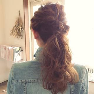 編み込み 結婚式 コンサバ 簡単ヘアアレンジ ヘアスタイルや髪型の写真・画像