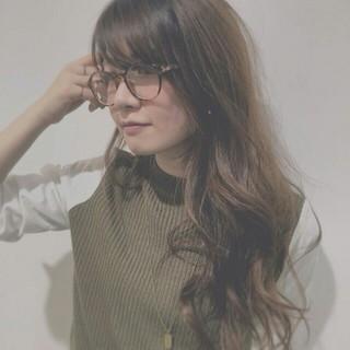 ヘアアレンジ ロング ゆるふわ うざバング ヘアスタイルや髪型の写真・画像