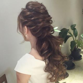 結婚式 ヘアアレンジ ロング 大人かわいい ヘアスタイルや髪型の写真・画像