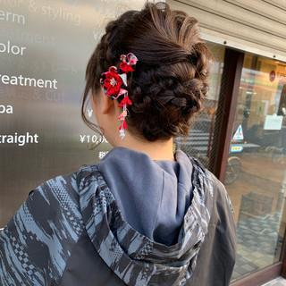 ヘアアレンジ 和装 卒業式 袴 ヘアスタイルや髪型の写真・画像