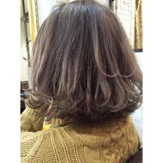 外国人風 グラデーションカラー ボブ アッシュ ヘアスタイルや髪型の写真・画像
