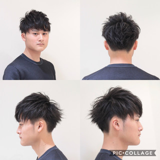 黒髪 メンズヘア ナチュラル ショート ヘアスタイルや髪型の写真・画像