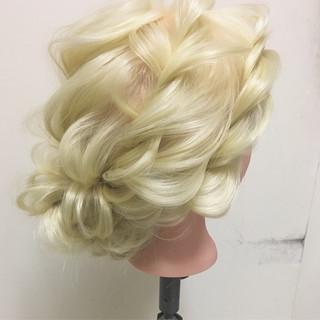 ヘアアレンジ 上品 ロング 結婚式 ヘアスタイルや髪型の写真・画像