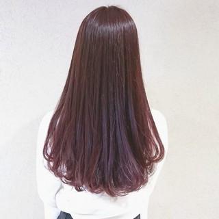 ガーリー ピンク ロング オルチャン ヘアスタイルや髪型の写真・画像