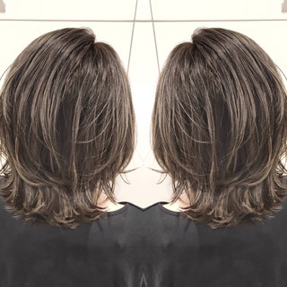 外国人風カラー ミディアム 色気 ストリート ヘアスタイルや髪型の写真・画像