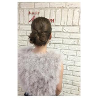 パーティ ヘアアレンジ 夏 フェミニン ヘアスタイルや髪型の写真・画像