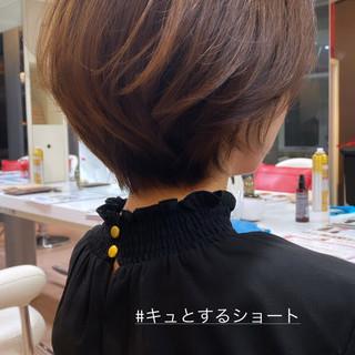小顔ショート ショートヘア フェミニン ミニボブ ヘアスタイルや髪型の写真・画像