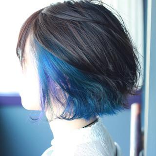 ブリーチ 派手髪 ハイトーン モード ヘアスタイルや髪型の写真・画像