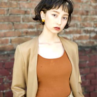 パーマ マッシュ 外国人風 ナチュラル ヘアスタイルや髪型の写真・画像