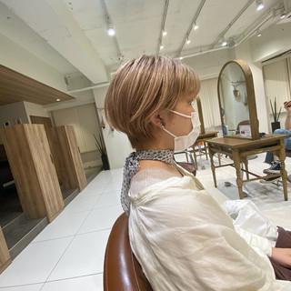 うる艶カラー ベリーショート ショート ショートヘア ヘアスタイルや髪型の写真・画像